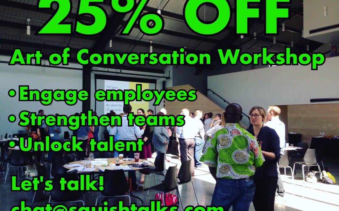 Art of Conversation Workshop Discount!